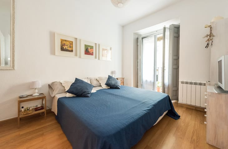 Sunny double bedroom Madrid OldTown