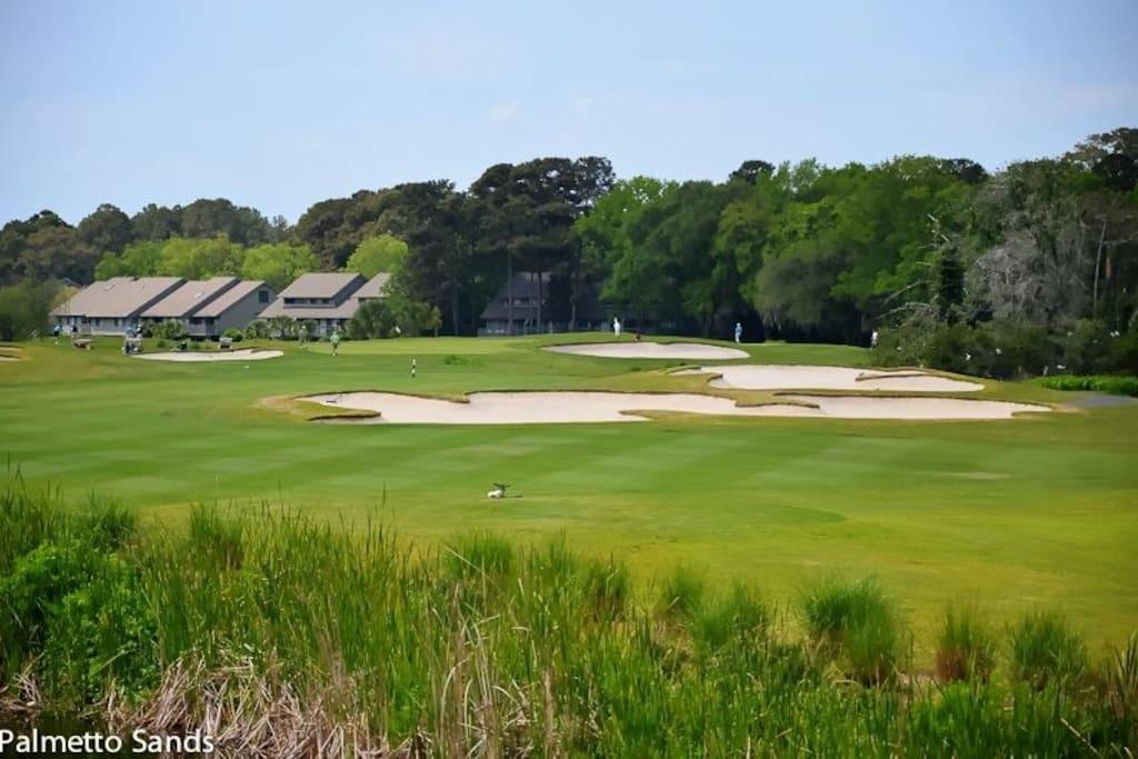 Three golf courses on site