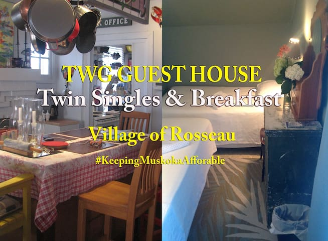 TWG GUEST HOUSE - TWIN SINGLES BEDROOM - Rosseau - Bed & Breakfast