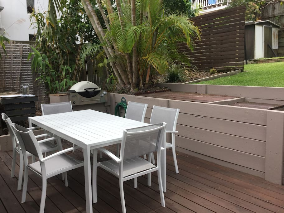 Outdoor area with BBQ