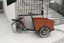 I have E-cargo bike available for small fee. Its very useful if you go make a Helsinki tour with kids, or need to carry something bigger.