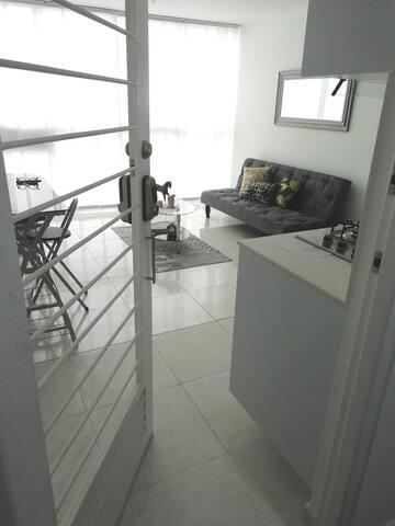 Entrada del apartamento / Apartment entrance