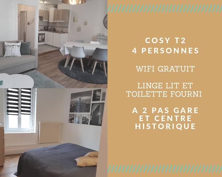Cosy T2 38m2 - Centre-Ville Dijon - Gare et Darcy
