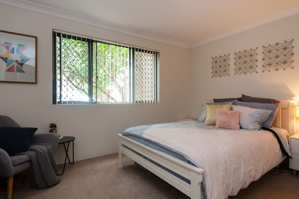 Main bedroom with reading nook
