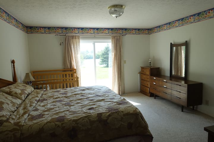 Master suite with pond-view. 5 minutes to Purdue
