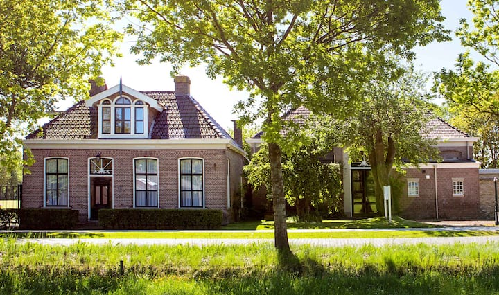Super gezinshuis 1-2 families, privacy, Friesland