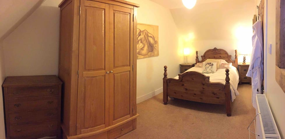 upstairs bedroom with standard double