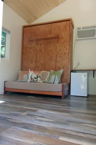 Bed Stored, Sofa, Refrigerator/Freezer, AC/Heater