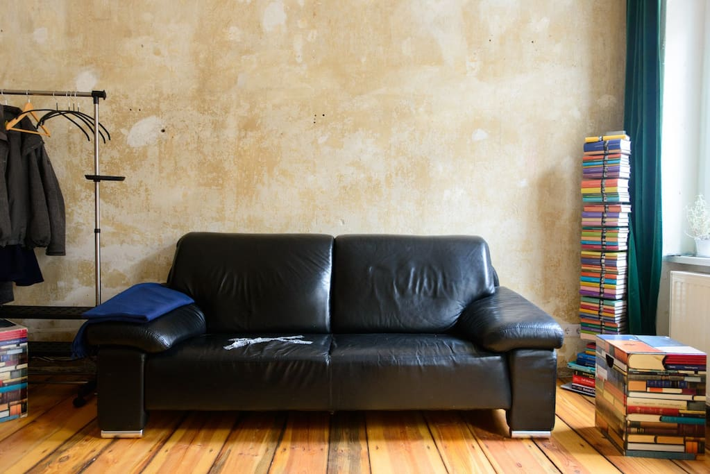 The couch / reading corner. This is where your third wheel can sleep.