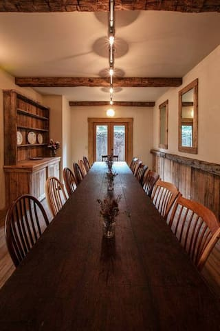 Family-style dining room