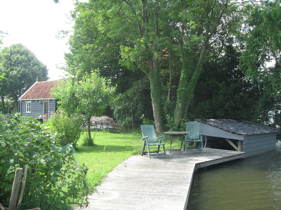 Your own terrace. If you like you can borrow our rowing boat!