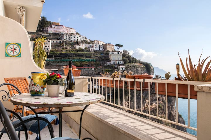 Gioia self catering apt sea view.  - Amalfi - Apartament