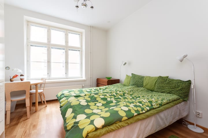 Centre of Helsinki, 2 rooms, quiet,airy, A/C,great - Helsinki - Apartament