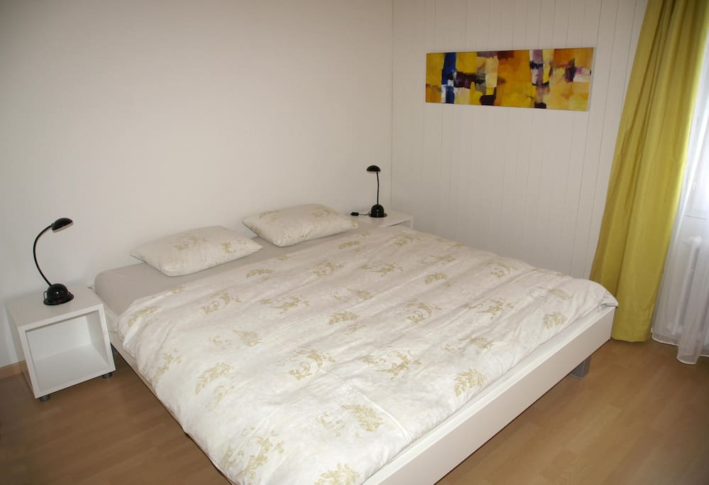 The bed has separate mattresses and duvets