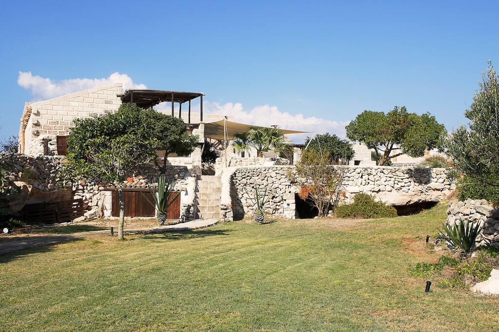 vista giardino casa Vigneto