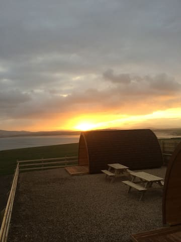 Eiri Gréine luxury pod - Claggan Island