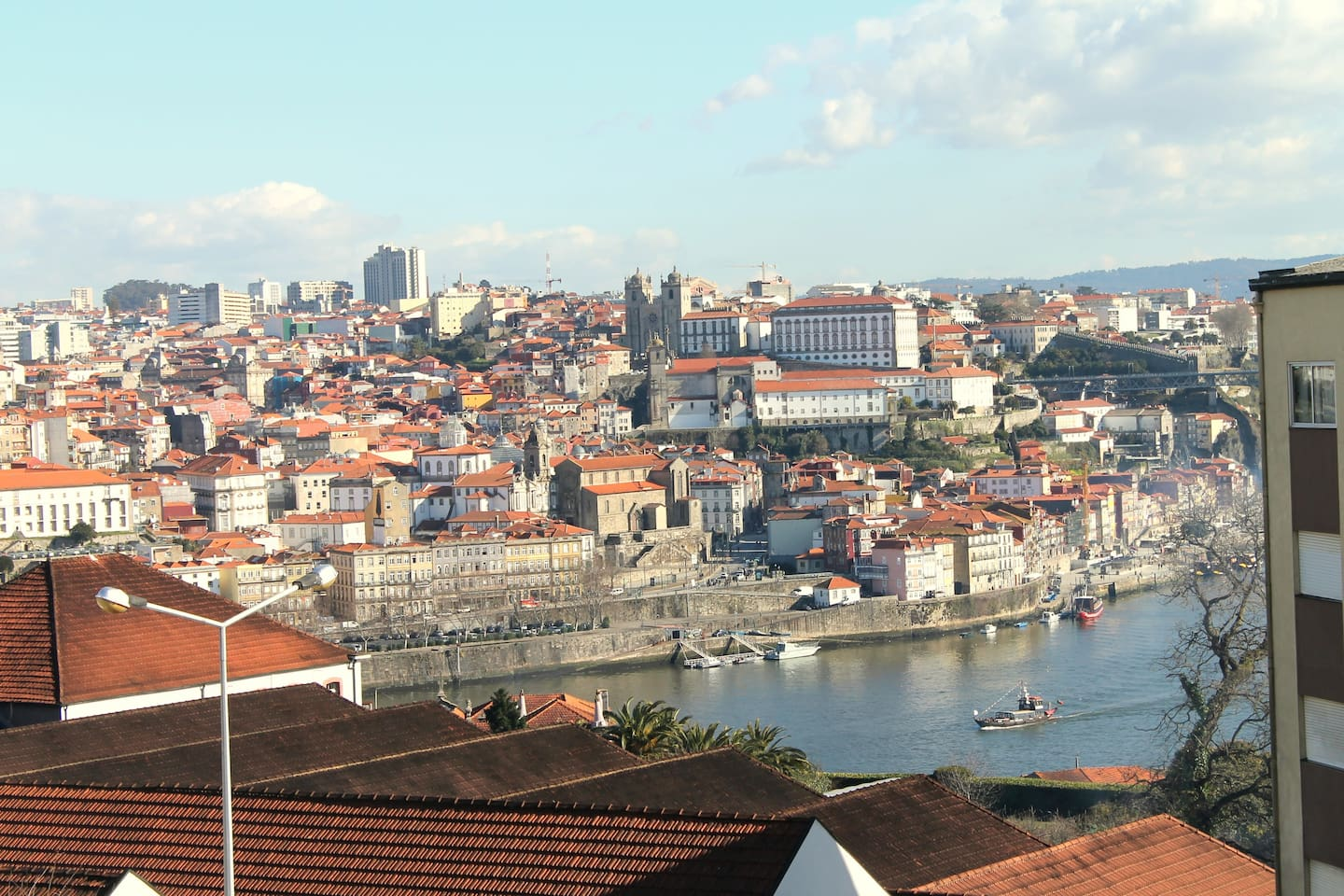 Lovely view from one balcony, to Douro river and historic centre