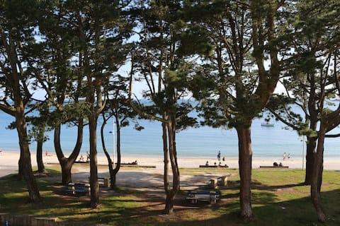 TY TREZ: Vue mer à Bénodet face à la plage du Trez