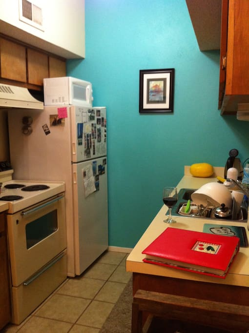 full kitchen + dishes available