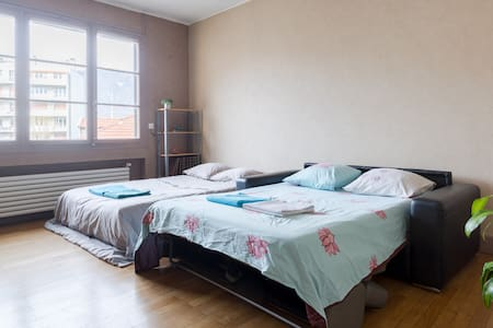 2 bedroom appartement  for 8 person in city center - Grenoble - Byt