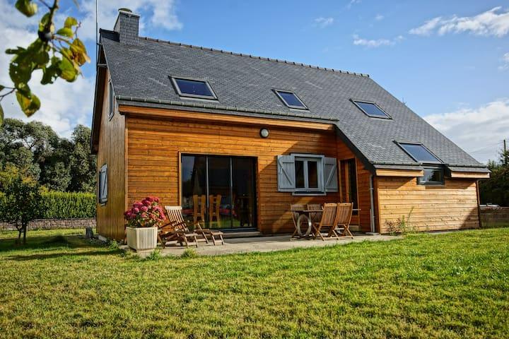 Roc'h Vraz, Maison neuve 4* en bois en bord de mer - Ploubazlanec - Rumah