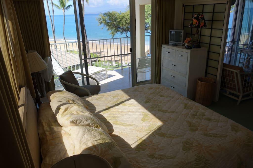 master bedroom overlooking the beach