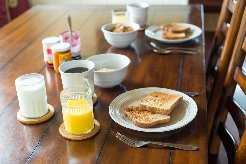 Provided continental breakfast
