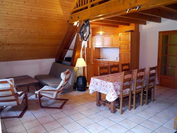 """""""La Grange"""": Appartement en chalet, 70m2 Vaujany"""