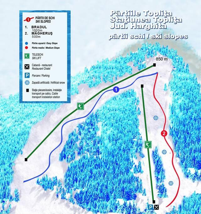 Partia de ski la 5 minute (500 m)