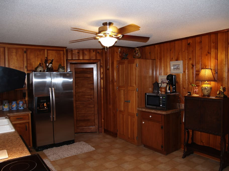 Annex side by side refrigerator water and ice microwave double waffle maker.