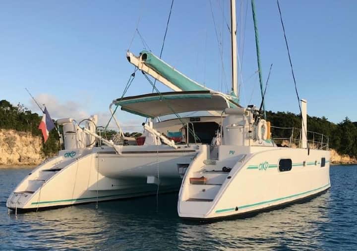 Logement insolite : OXO, Catamaran de 43 pieds