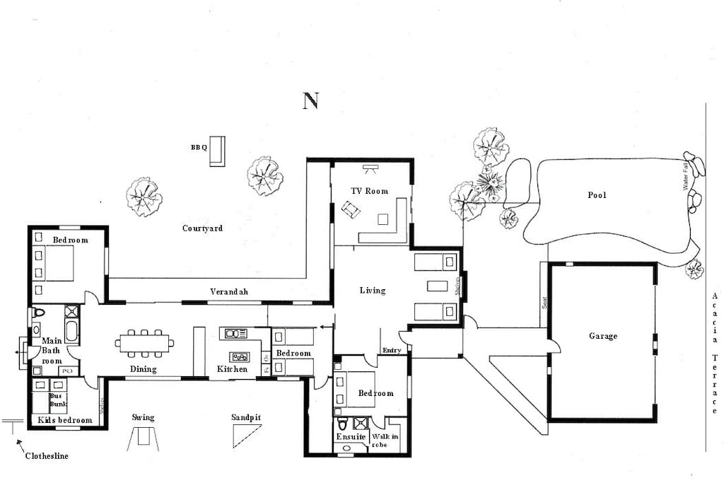 Floorplan with furniture