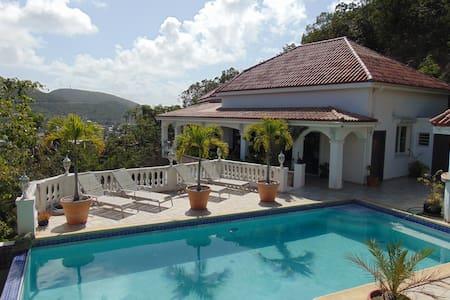 Chambre privée vue sur lagon - Cole Bay - Villa
