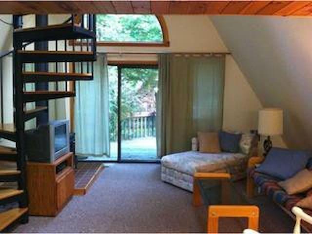 Living room phasing rear deck