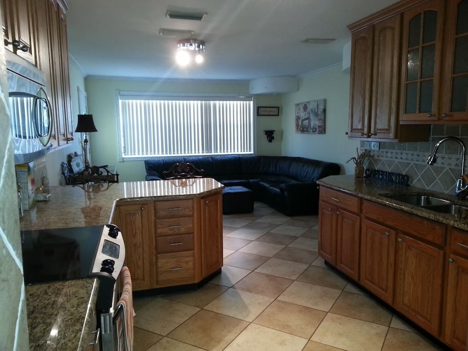 Open floor plan, updated kitchen with all the amenities