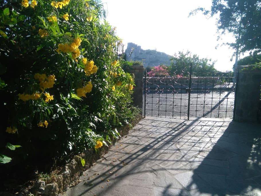 la vista dalla villa