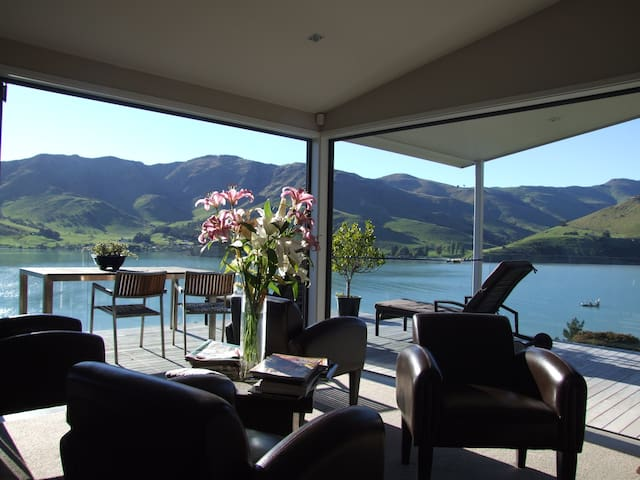 Breathtaking views, Rural Location,Banks Peninsula - Port Levy - Huis