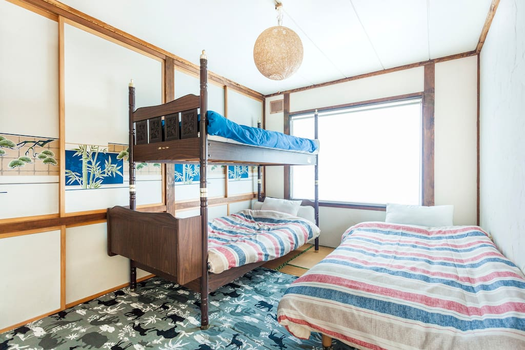 Room C(1 bed and 1 bunk bed for smaller guest, or 2 bunk bed)