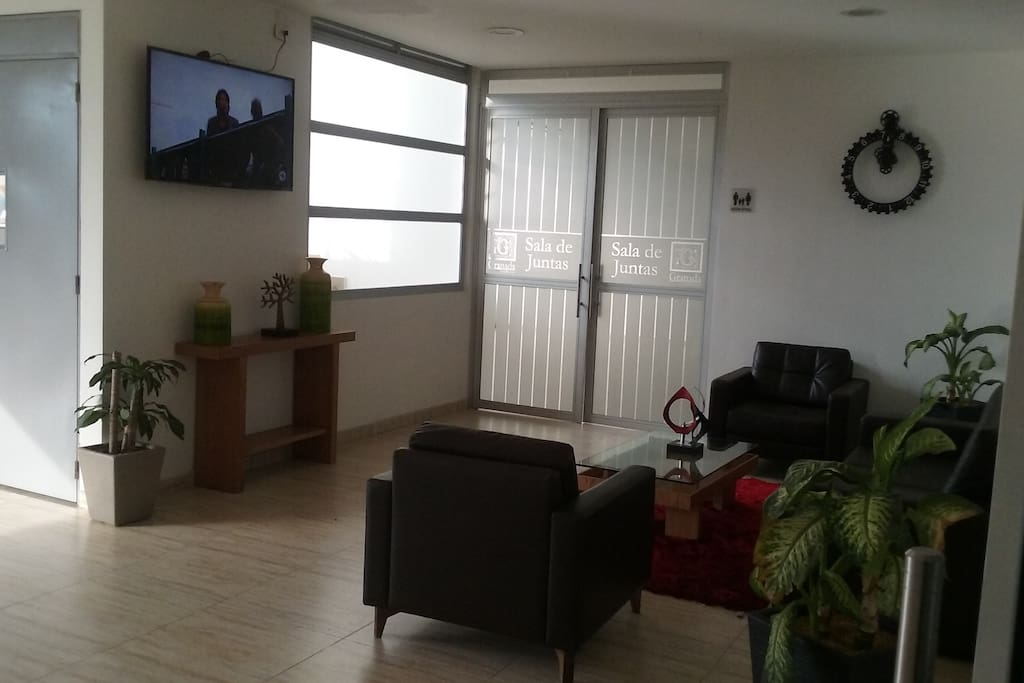 Lobby de los apartamentos