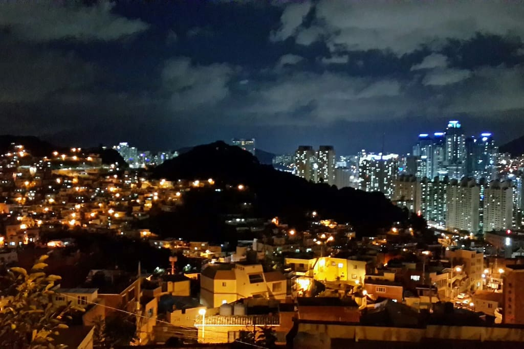Night view from the rooftop