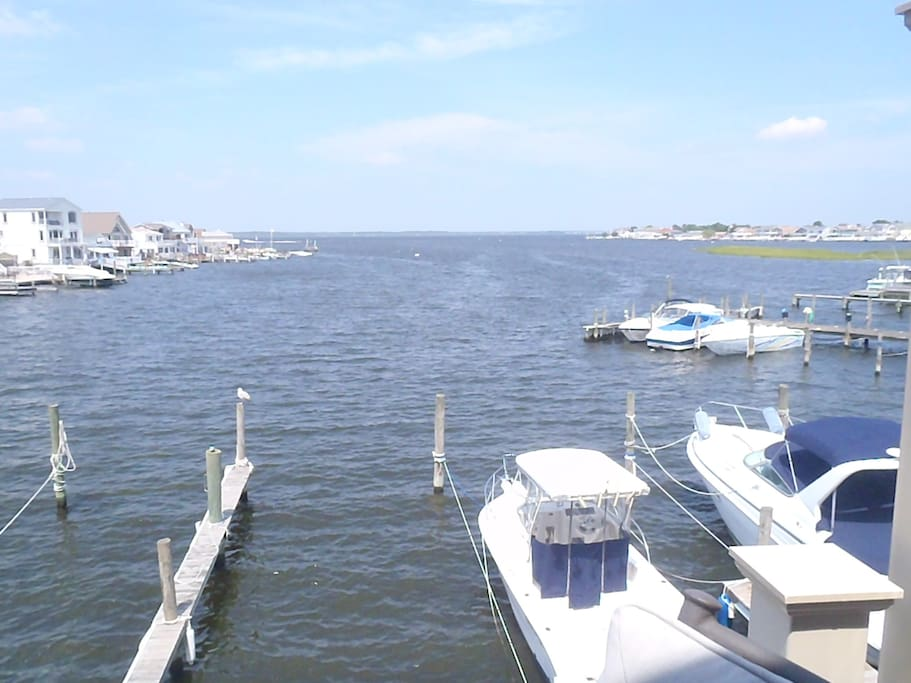 View from Balcony looking at Barnegat Bay.