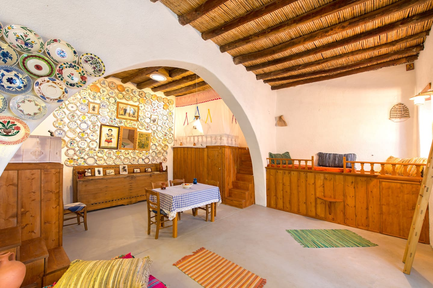 """""""Tsampika traditional home. Archangelos Rhodes, nostos-homes. Traditional arch type holiday home. A """"home - Treasure of local Tradition""""  where you feel like your home."""