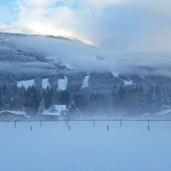 Revelstoke Mountain Resort is in our back yard.  The gondola is a two minute drive from the front door!