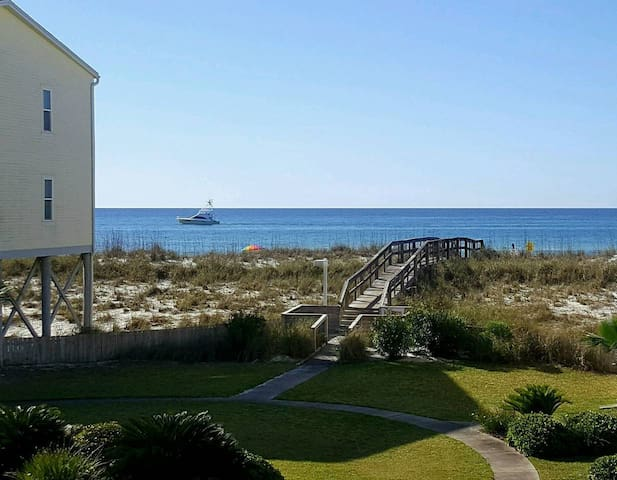 Affordable Gulf View Condo w/ Pool!