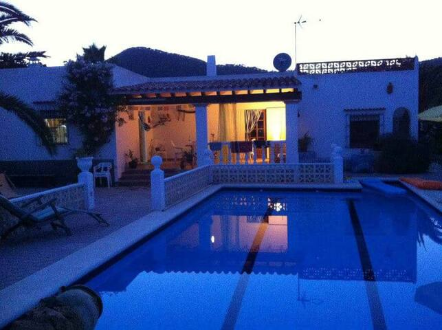 IbizaRoom2 in shared villa with pool and sea view!