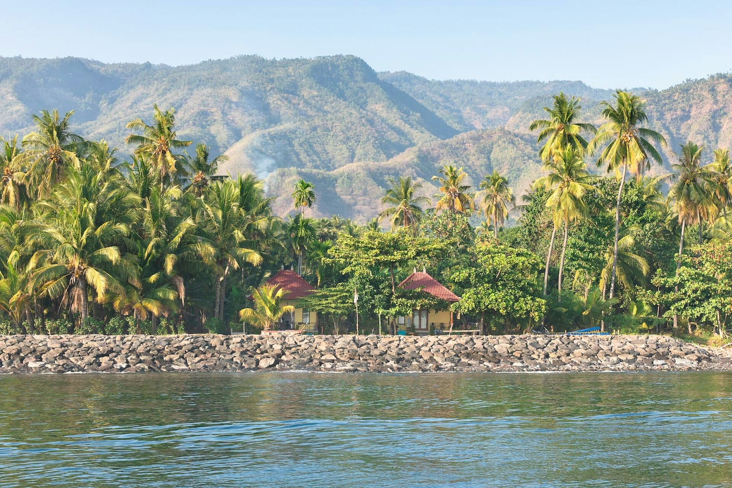 View of Fisherman Homestay from the sea
