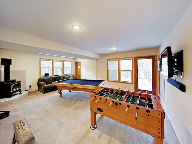 The game room is the perfect spot to unwind after an exciting day on the slopes.