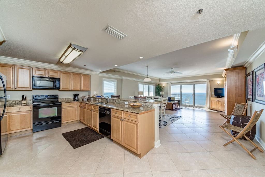 Large Open Kitchen and Living Room