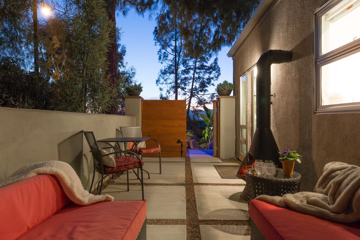 Direct access to your private patio.