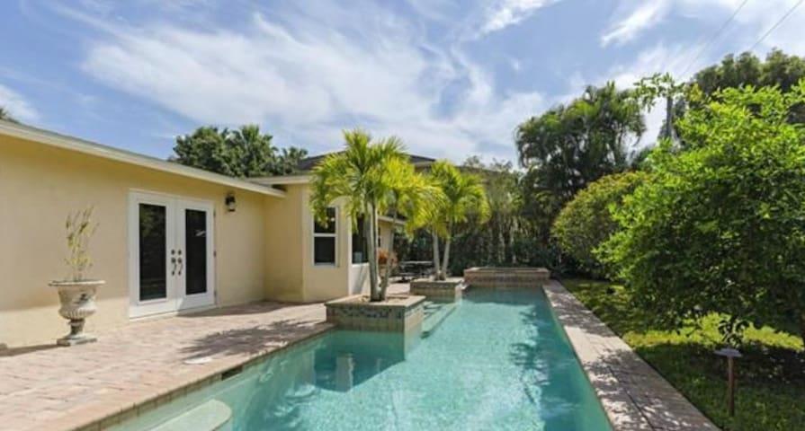 Pool area / backyard